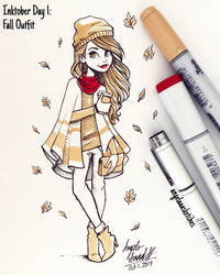 Inktober Day 1 - Fall Outfit
