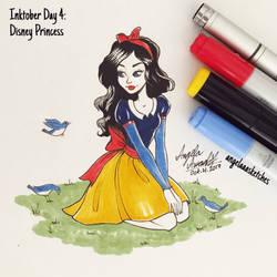 Inktober Day 4 - Disney Princess
