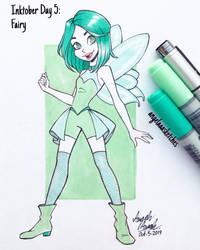 Inktober Day 5 - Fairy