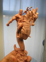 miniature Aquaman by ZKULPTOR