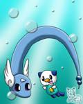Swimming with Dragonair