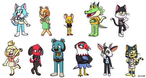 Animal Crossing Characters in my Style