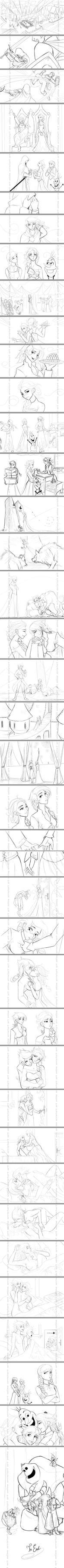 Elsa falls in love-Frozen fan story- by Arrietart