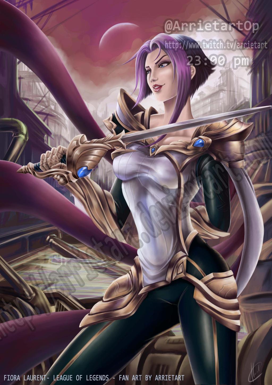 Fiora Rework League of legends by Arrietart on DeviantArt