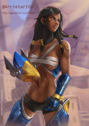 Pharah Overwatch by Arrietart