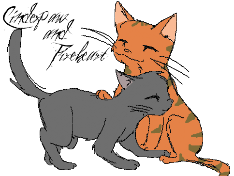 Fireheart and Cinderpaw by InvaderKyraFireheart And Cinderpaw