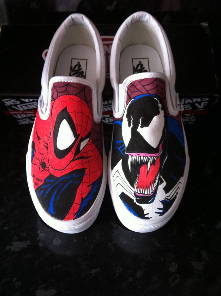656725d7f0e5a0 Spiderman Venom Vans by VeryBadThing on DeviantArt