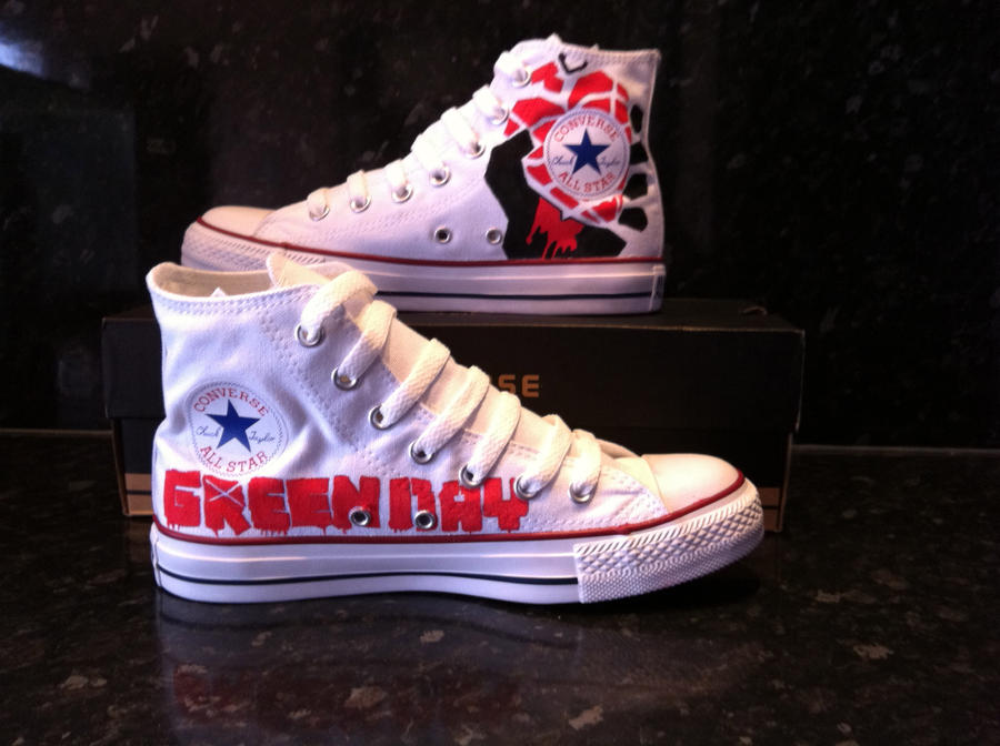 Green Day Converse Chucks 2 by VeryBadThing
