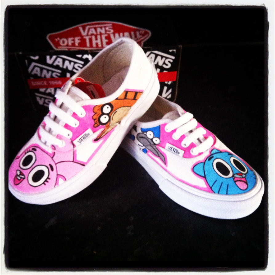 Cartoon Network Vans Gumball Etc By VeryBadThing