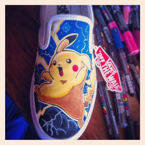 Pokemon Pikachu Vans by VeryBadThing