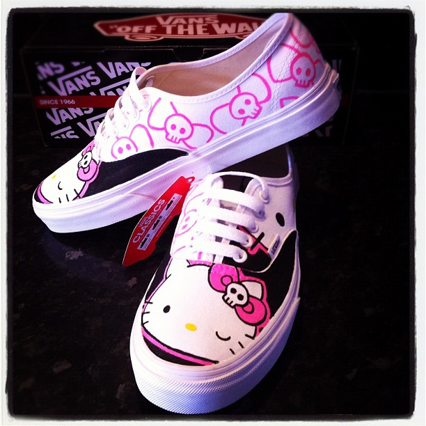 1d8f6a393 Hello Kitty Vans Black by VeryBadThing on DeviantArt