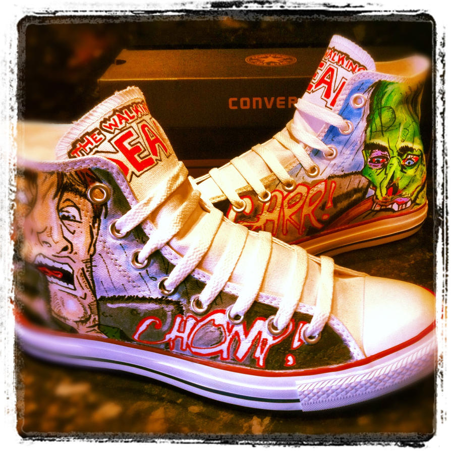 The Walking Dead Converse by VeryBadThing
