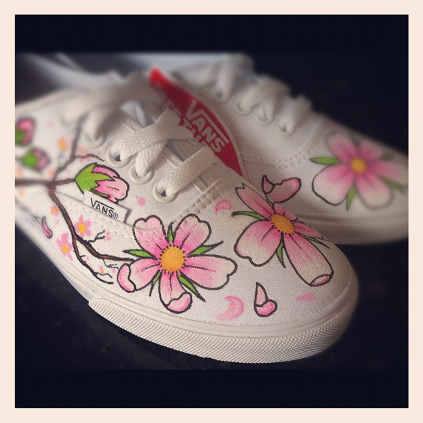 Cherry Blossom Vans 3 by VeryBadThing