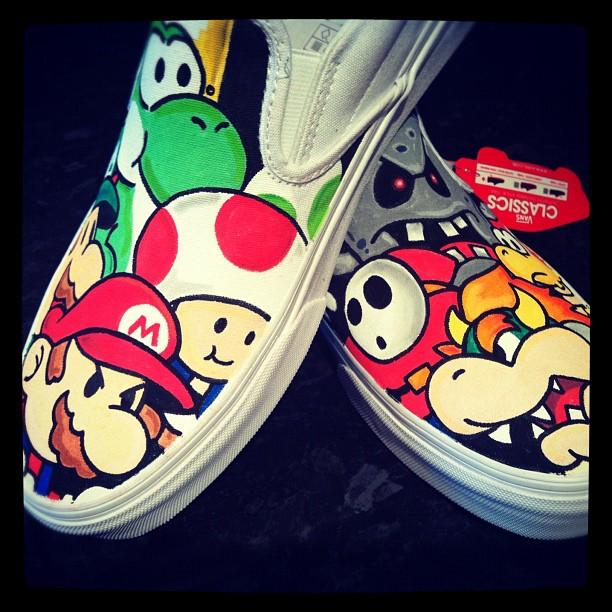 Paper Mario Custom Vans by VeryBadThing