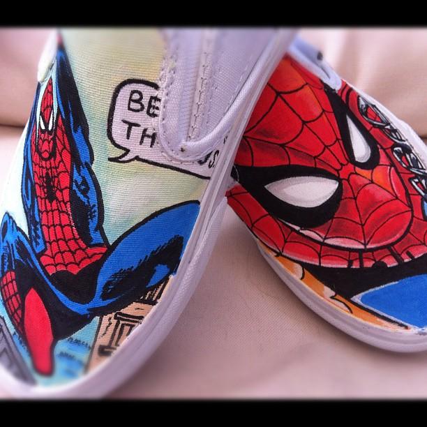 d69ea407616ae8 Spider-man Vans by VeryBadThing on DeviantArt