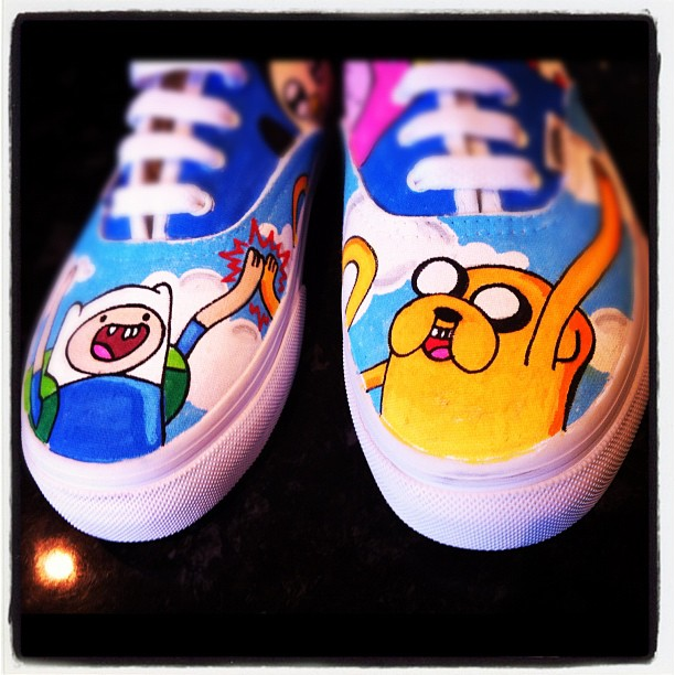 Adventure Time Vans Hi Five by VeryBadThing