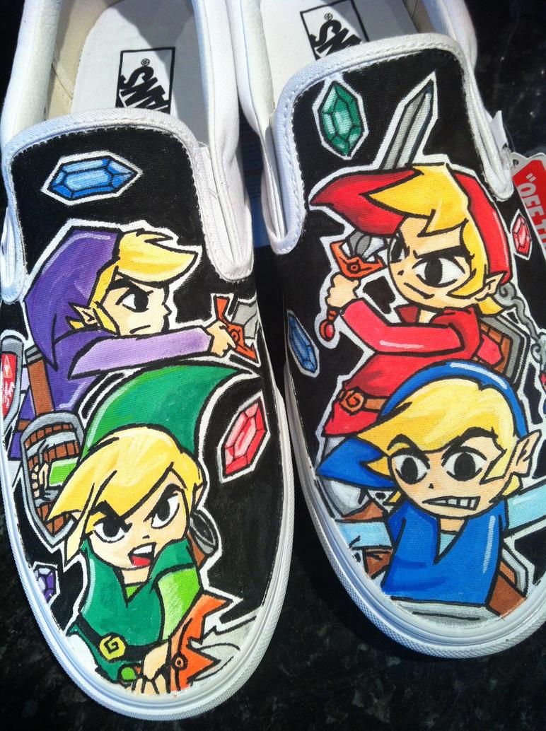 Legend of Zelda Four swords Vans by VeryBadThing