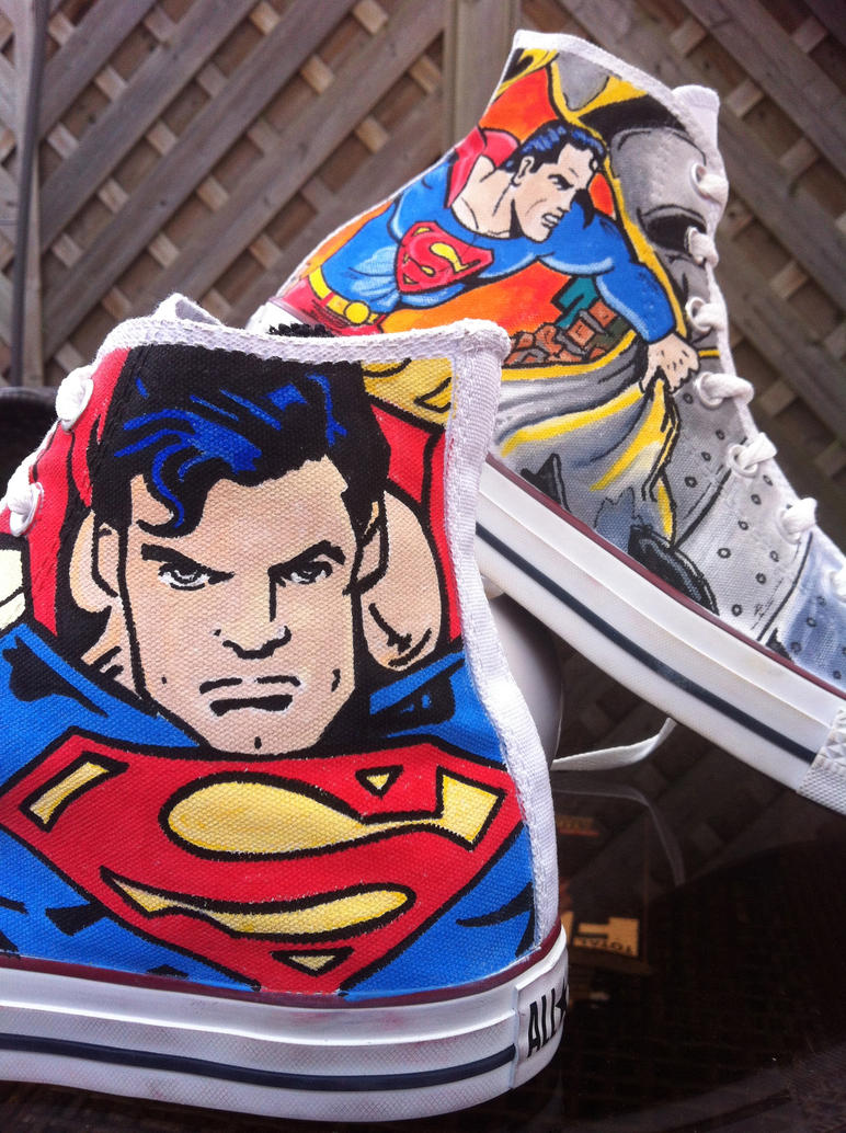 Superman Custom Converse by VeryBadThing
