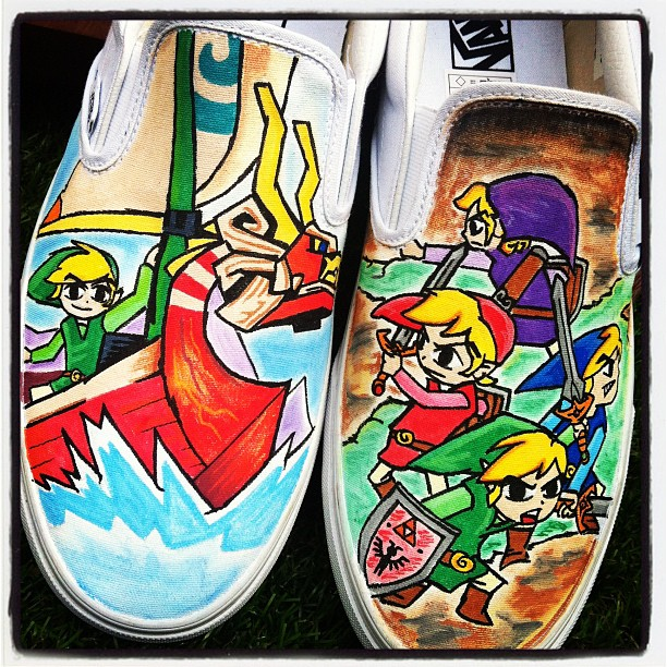 Zelda Windwaker Link Vans by VeryBadThing