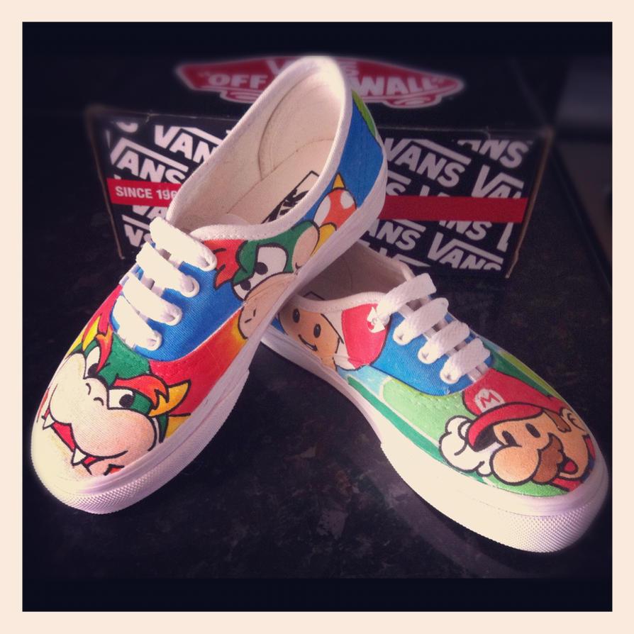 Super Mario Vans by VeryBadThing