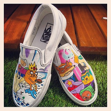 Adventure Time Vans The Creeps by VeryBadThing