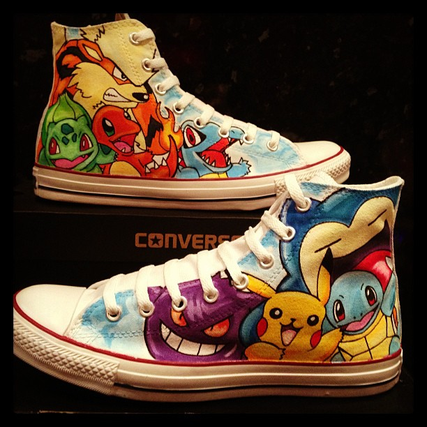 Pokemon Converse Customs by VeryBadThing