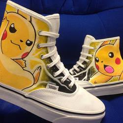 Pikachu Custom Vans Pokemon by VeryBadThing