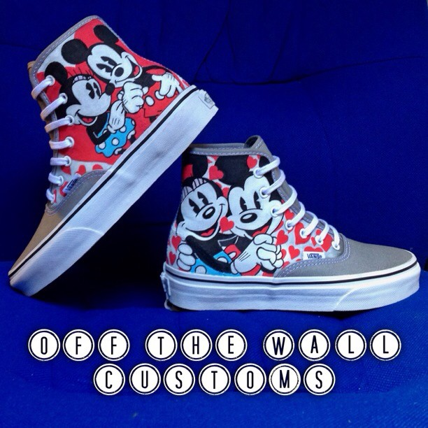 b3ea0dd10753 Mickey and Minnie Mouse custom Vans by VeryBadThing on DeviantArt