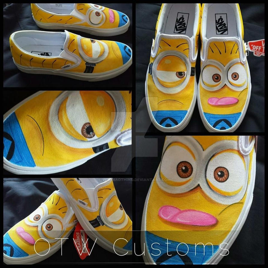 Minions Custom Vans 2 by VeryBadThing