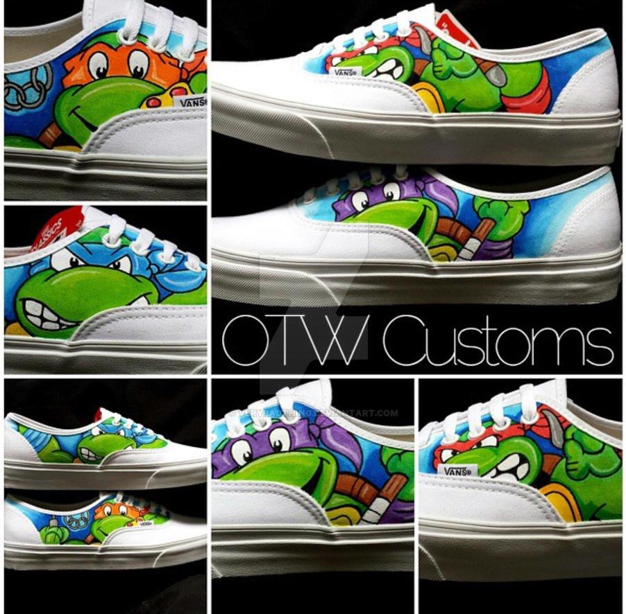 Ninja Turtles Custom Vans by VeryBadThing