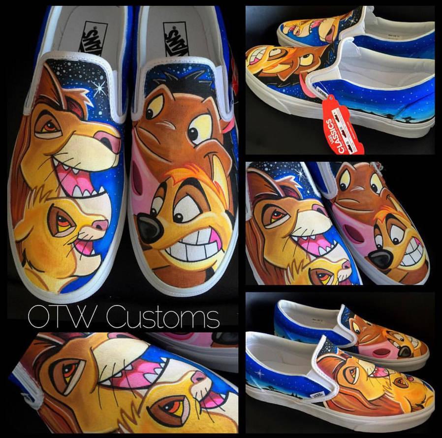 7ae49e0f84 Disney Lion King Custom Vans by VeryBadThing on DeviantArt