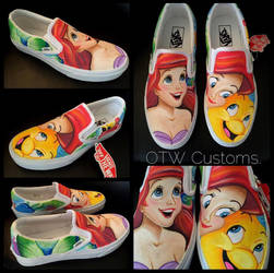Disney Little Mermaid  Custom Vans