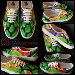 Teenage Mutant Ninja Turtles Custom Vans