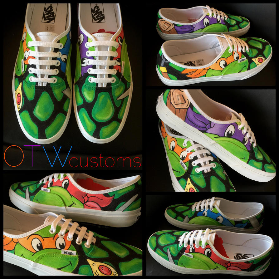 Teenage Mutant Ninja Turtles Custom Vans  by VeryBadThing
