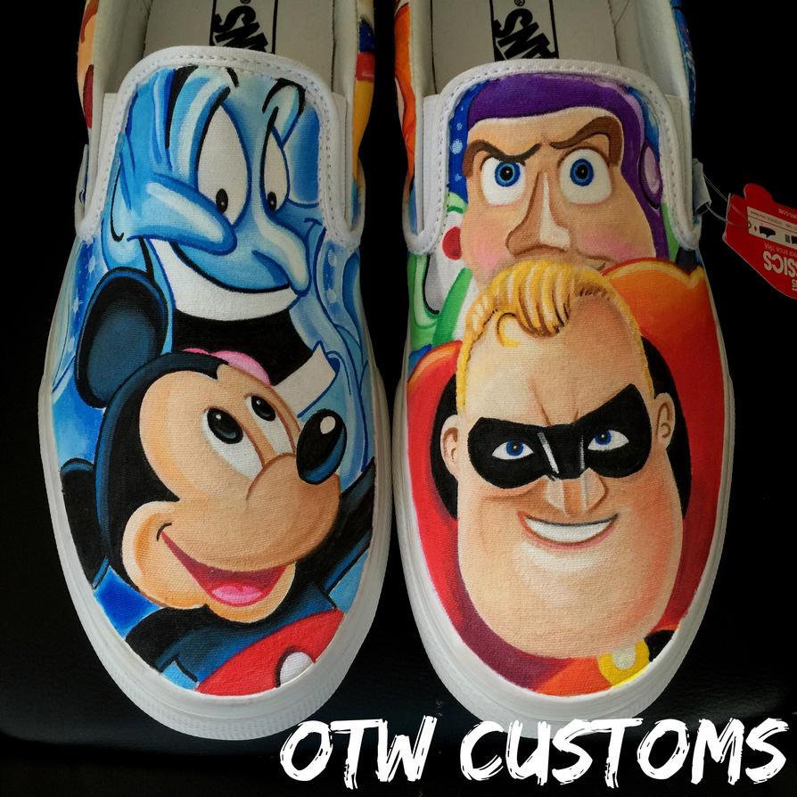 Disney Pixar Character Custom Vans  by VeryBadThing