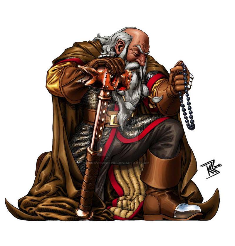 Dwarven Cleric by BraveSirKevin