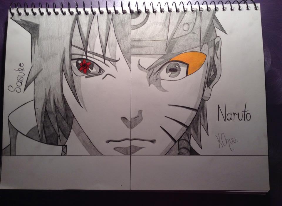 Naruto and Sasuke by Tora-Luv10