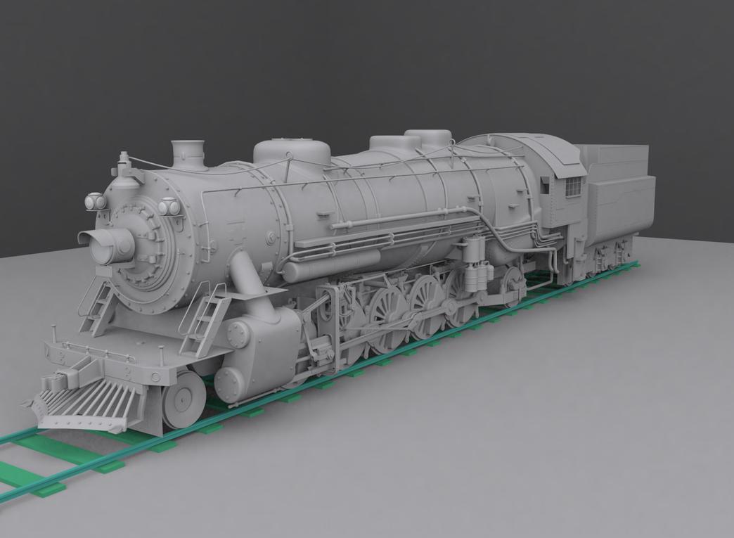Steam Locomotive 3d Model By Cyberniee On Deviantart