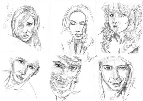 Face Study by Arineange