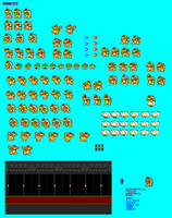 MLSS New Bowser Sprite Sheet by PxlCobit