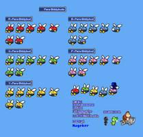 MLSS Para-Biddybuds Sprites Sheet. by PxlCobit