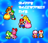 Super Mario Valentines Day by PxlCobit