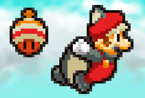 MLSS Squirrel Mario Preview. by PxlCobit