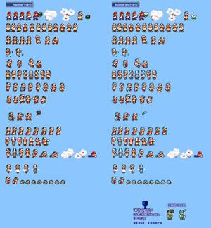 MLSS Hammer and Boomerang Mario sprites sheet