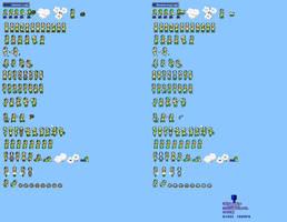 MLSS Hammer and Boomerang Luigi sprites sheet by PxlCobit