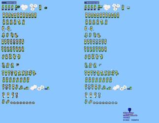 MLSS Hammer and Boomerang Luigi sprites sheet