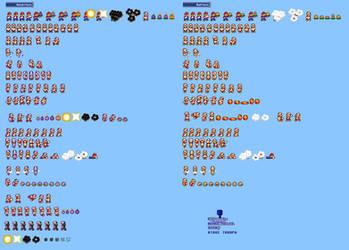 MLSS Bomb and Ball Mario sprites sheet