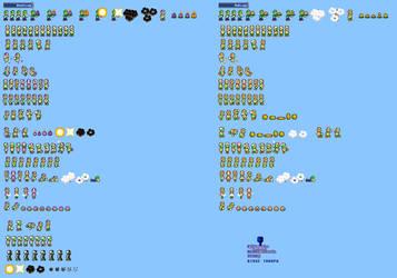 MLSS Bomb and Ball Luigi sprites sheet
