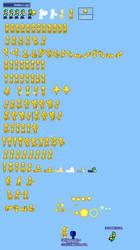 MLSS Golden Luigi Sprites Sheet
