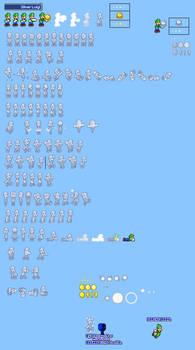 MLSS Silver Luigi Sprites Sheet